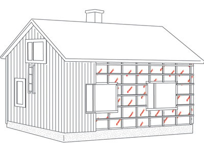 Timber frame, additonal insulation 6